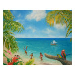"""Kids in the Beach"" Fine Art Poster"