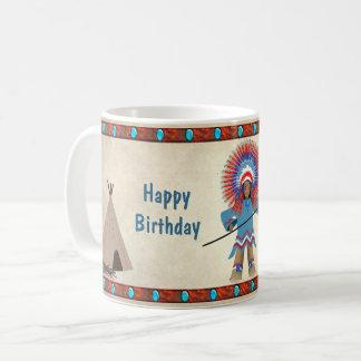 KIDS' INDIAN TEPEE BIRTHDAY MUG