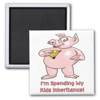 Kids Inheritance Square Magnet