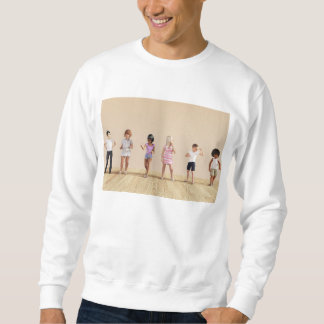 Kids Jumping Playing Inside the House Illustration Sweatshirt