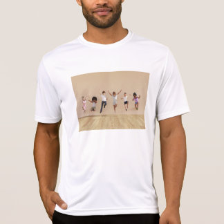 Kids Jumping Playing Inside the House Illustration T-Shirt