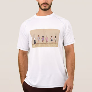 Kids Jumping Playing Inside the House Illustration Tees