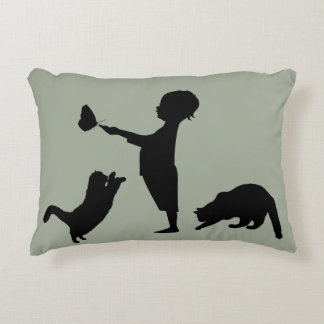 Kids Kittens & Butterflies Decorative Cushion