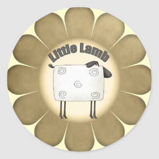 Kids Lamb T Shirts and Gifts Classic Round Sticker