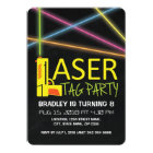 KIDS LASER TAG BIRTHDAY PARTY CARD