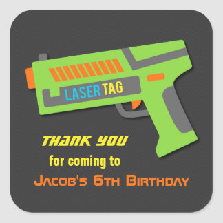 Kids Laser Tag Birthday Party Decor Stickers
