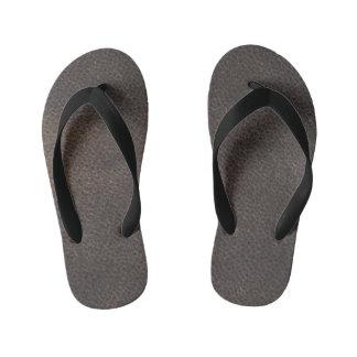 Kids Leather look designer slim-Straps Sandals Thongs