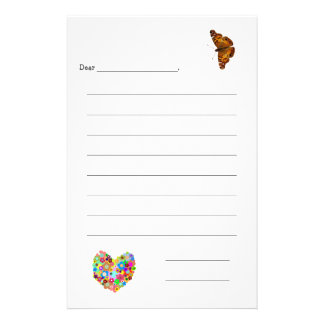 Kid's Lined Note Paper Personalised Stationery