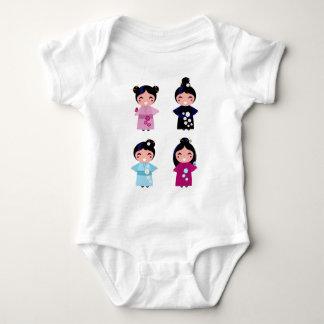 Kids little cute geishas baby bodysuit