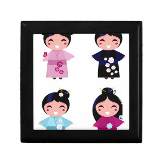Kids little cute geishas gift box
