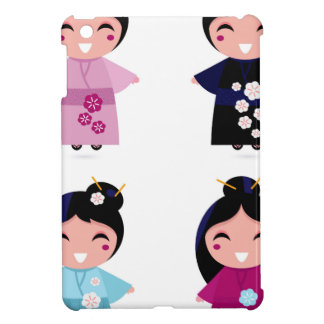 Kids little cute geishas iPad mini case