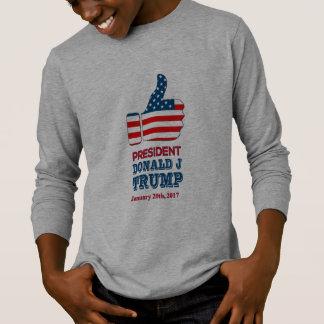 Kids Long Sleeve T-Shirt Thumbs Up President Trump