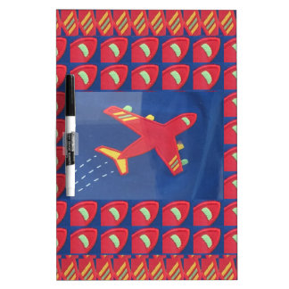 Kids Love Aeroplane Aircraft Flight Travel Holiday Dry Erase White Board