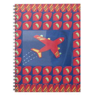 Kids Love Aeroplane Aircraft Flight Travel Holiday Notebook
