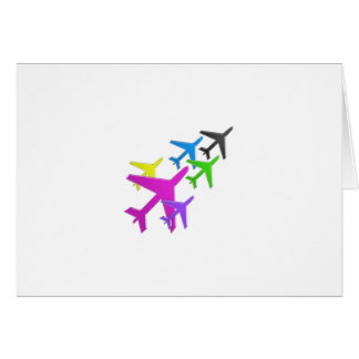KIDS LOVE Aeroplane avion vol voyageurs GIFTS FUN Card
