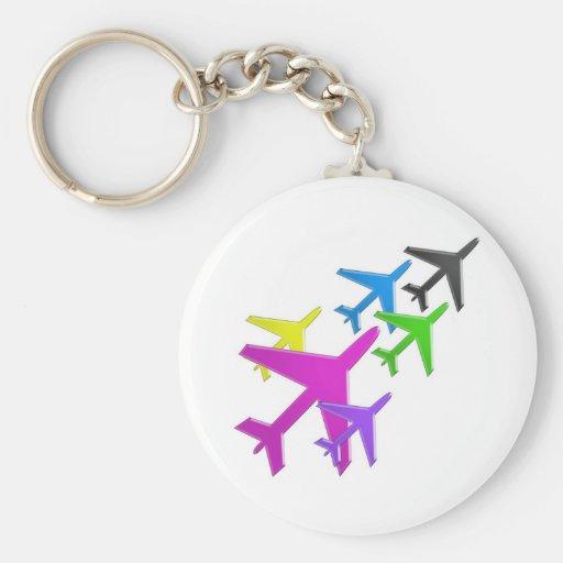 KIDS LOVE Aeroplane avion vol voyageurs GIFTS FUN Key Chain