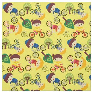 Kids Love Bicycles Fabric