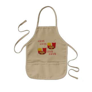 Kids Love Burger & Fries Apron