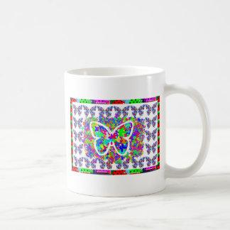 KIDS love Butteryflies DIY easy CUSTOMIZE button Coffee Mug