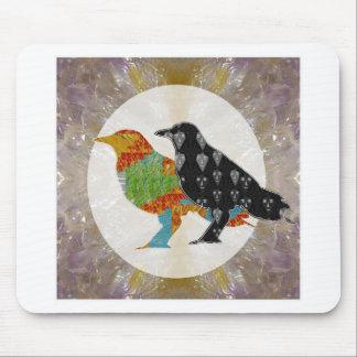 Kids Love Crow Bird Wild Zoo Mouse Pad