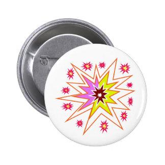 KIDS Love Star Sparkle Art Gifts for Birthdays fun 6 Cm Round Badge