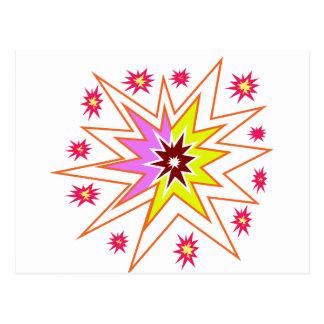KIDS Love Star Sparkle Art Gifts for Birthdays fun Postcard
