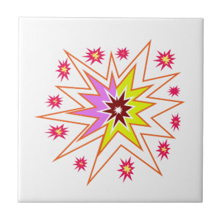 KIDS Love Star Sparkle Art Gifts for Birthdays fun Small Square Tile
