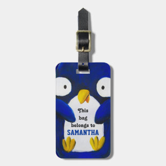 kids luggage cute cartoon penguin luggage tag
