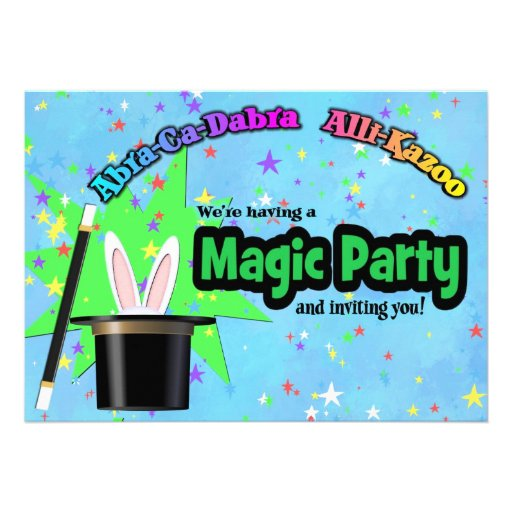 Kids Magic Party Personalized Invitations