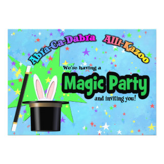 Kids Magic Party Personalized Invitation