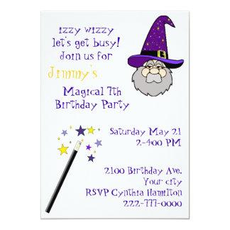 Kid's Magic Themed Birthday Party Invitation