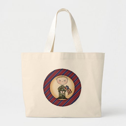 Kids Military Tote Bag