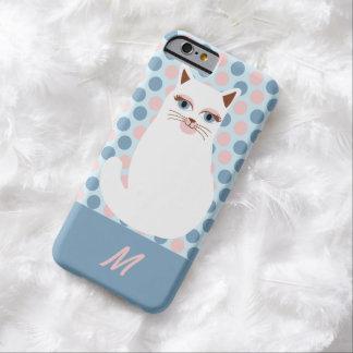 Kids Monogram Cat Polka Dot iPhone Case