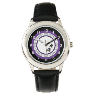 Kid's Monogram Volleyball Text Circle Watch