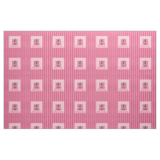"Kid's Monogrammed ""M"" Pink Moose Fabric"