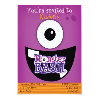 Kids Monster Bash Party Announcements