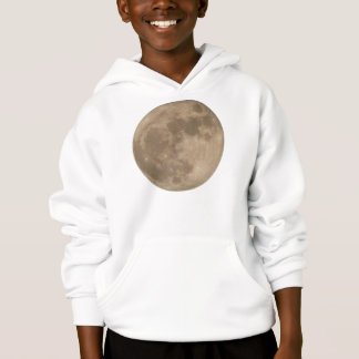 Kid's Moon Hoodie Full Moon Shirts Astronomy Gifts