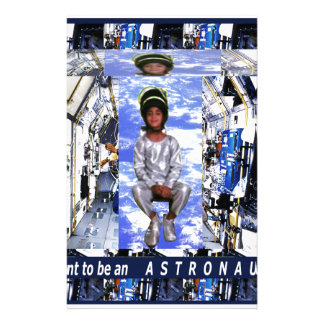 KIDS motivational graphics I want to be ASTRONAUT Stationery
