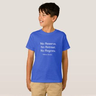 Kid's Motivational No Regrets shirt