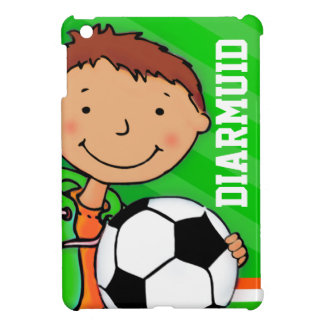 Kids name soccer / football boy green ipad mini case for the iPad mini
