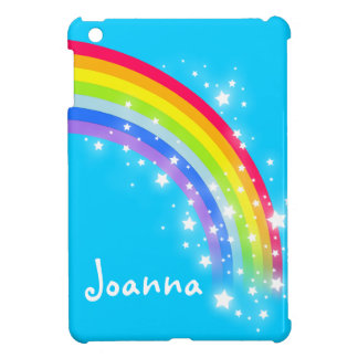 Kids named colorful rainbow purple ipad mini case