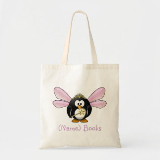 Kids named id fairy book penguin tote bag