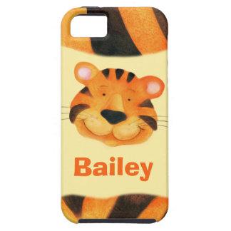Kids named tiger face iphone 5 case