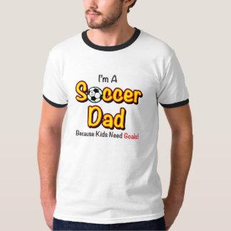 """""""Kids Need Goals"""" Soccer Dad Men's Shirt"""