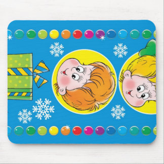 Kids' New Year Mouse Pad