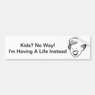 Kids No Way Bumper Sticker