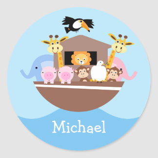 Kids Noah's Ark Birthday Favor Sticker