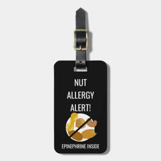 Kids Nut Allergy Alert with Epinephrine Image Luggage Tag