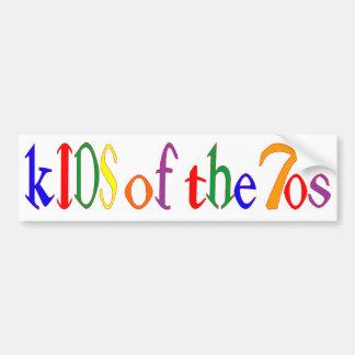 kIDS of the 70's bumper sticker