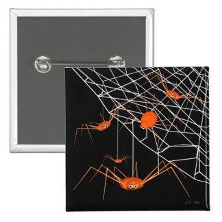Kids Orange Halloween Spiders Pin